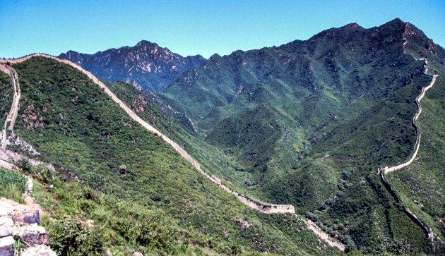 De slingerende Chinese muur