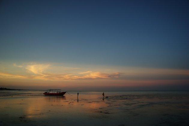 Aan het werk in de wateren van Zanzibar