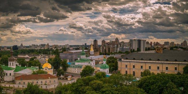 Onweer op komst boven Kiev