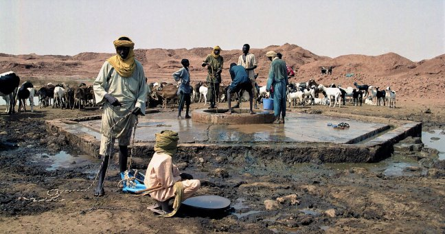 Waterbron in de Sahara