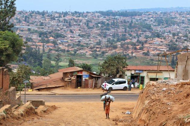 Wandelen door Kigali