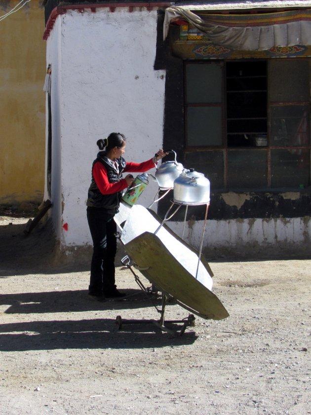 koken op zonne-energie