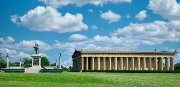 Parthenon & John W. Thomas Statue in Centennial Park - Nashville