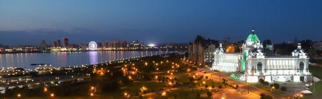 Bezoek het Kremlin in de avond