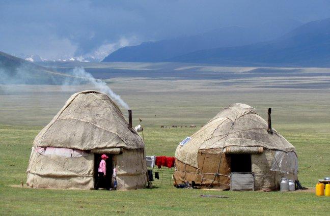 Yurts aan Son Kul