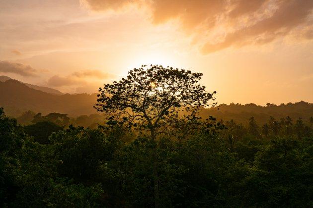 Zonsondergang in Noord Colombia