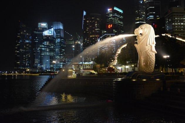 De mascotte van Singapore, een bezoekje waard!