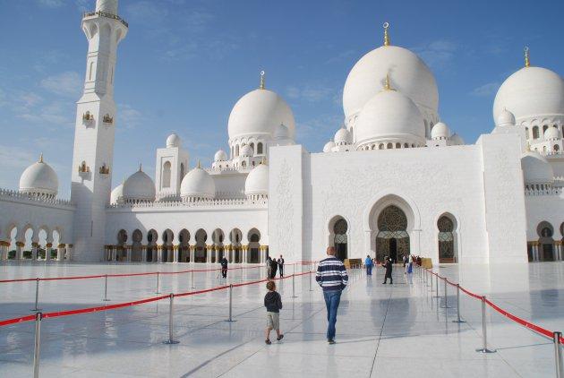 Op bezoek in de Sheikh Zayed Grand Mosque