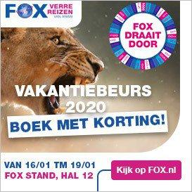 FOX Verre Reizen - Vakantiebeurs 2020 - Boek met korting - 16 tm 19 jan 2020 afbeelding