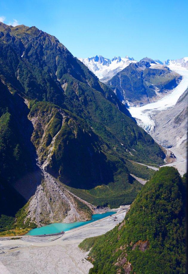 Fox Glacier vanuit de heli