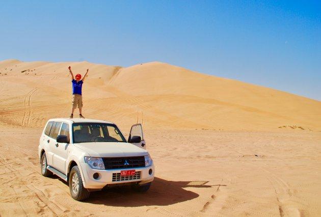 Dwars door de woestijn van Oman