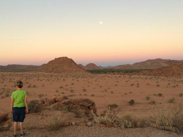 Uitzicht over droog Damaraland