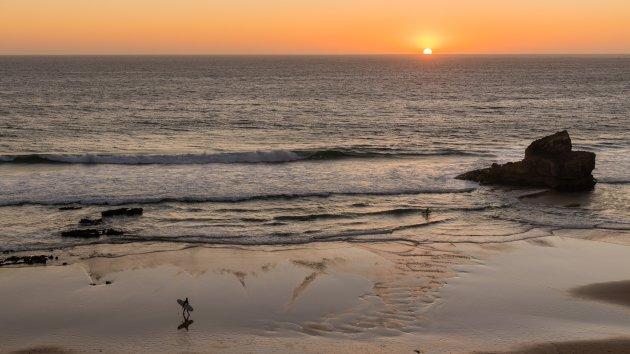 De laatste surfers vertrekken...