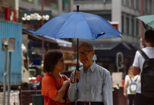 Paraplu tegen de zon