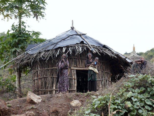 een voudige hutten.
