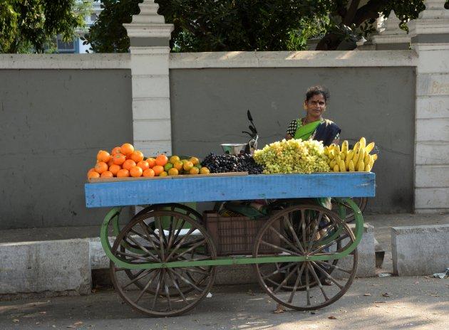 Fruitverkoopster in Pondicherry