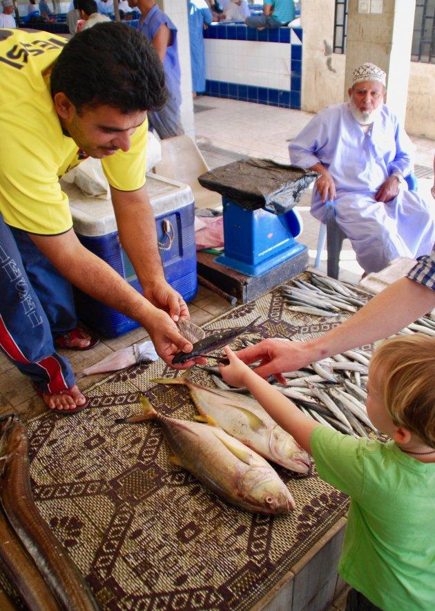 Op de vismarkt in Muscat