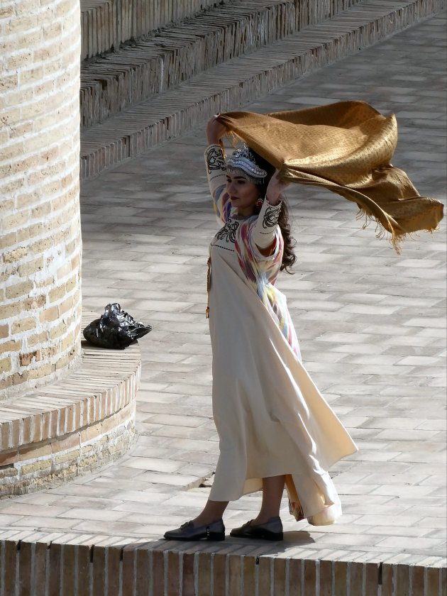 Traditionele bruids kleding.