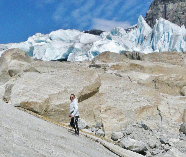 De gletsjer beklimmen