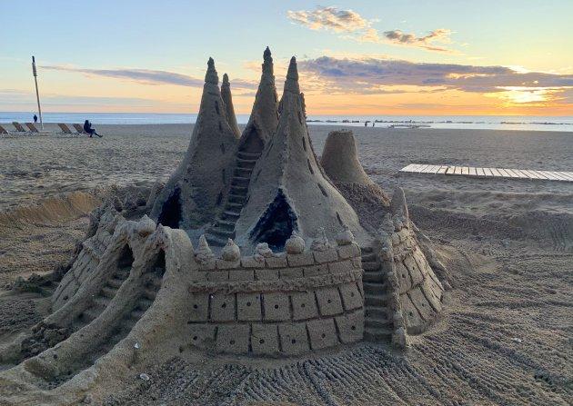 Sagrada Familia in zand