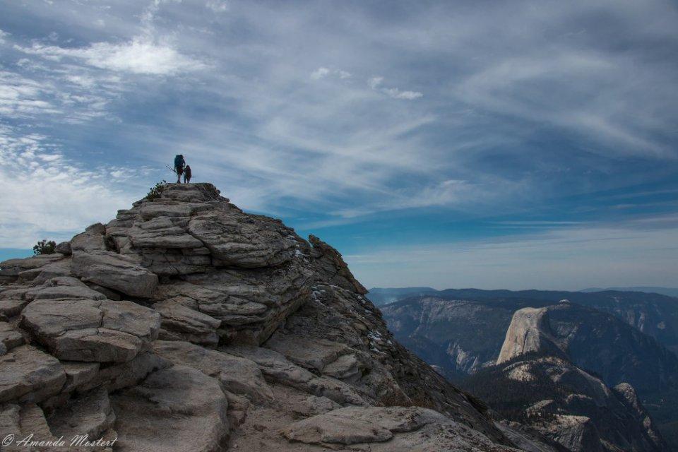 Uitzicht Clouds Rest in Yosemite