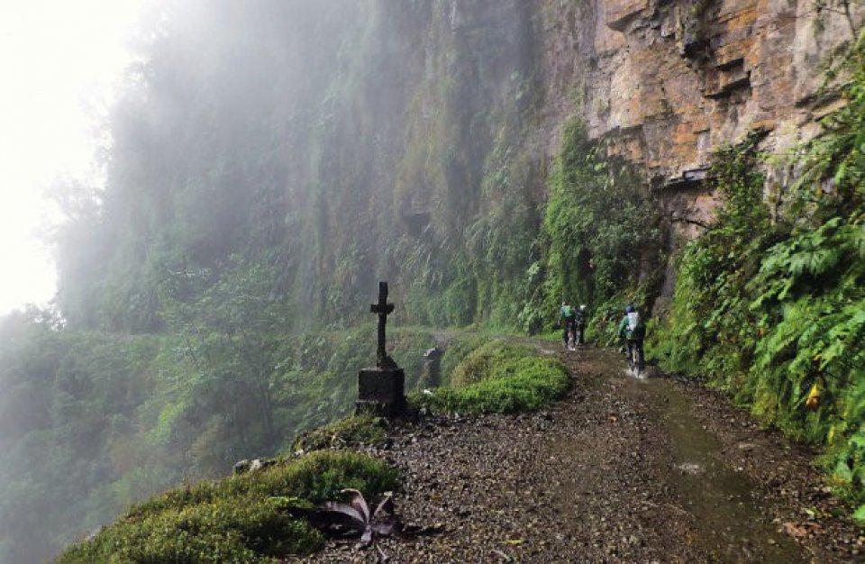 La Paz in Bolivia is de gevaarlijkste weg ter wereld