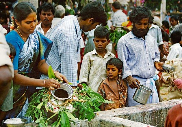 Dorpsfeest in Tamil Nadu