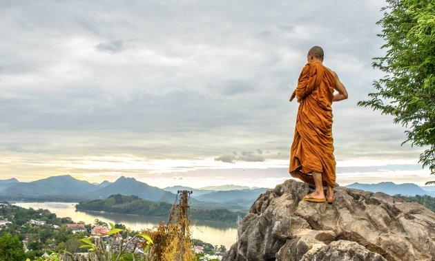 Zonsondergang op Phousi Hill Luang Prabang