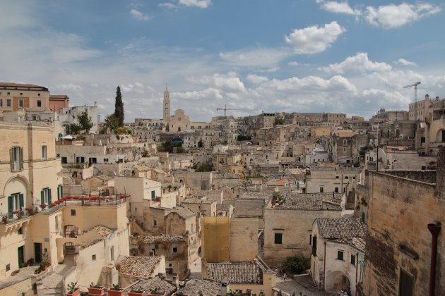 Stadsbeeld van de Sassi in Matera