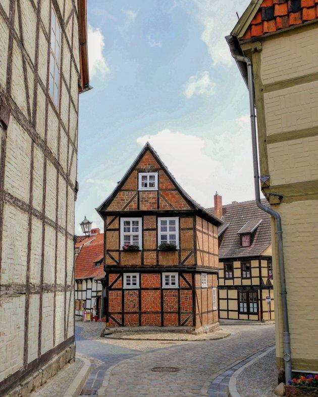 Het stadscentrum van Quedlinburg