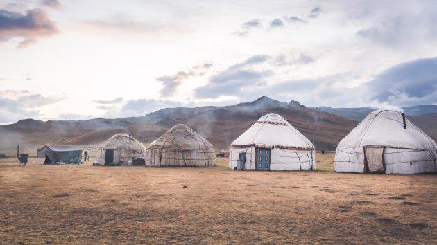 Yurts in Kirgizië