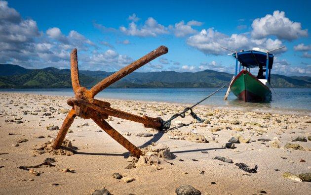 Verlaten stranden op 17 Islands