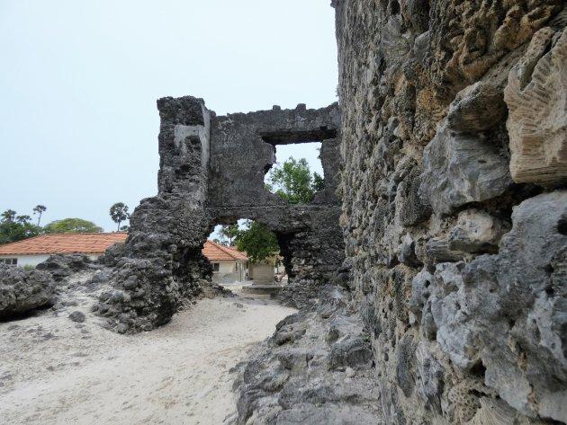 Ruïnes op eiland Delft