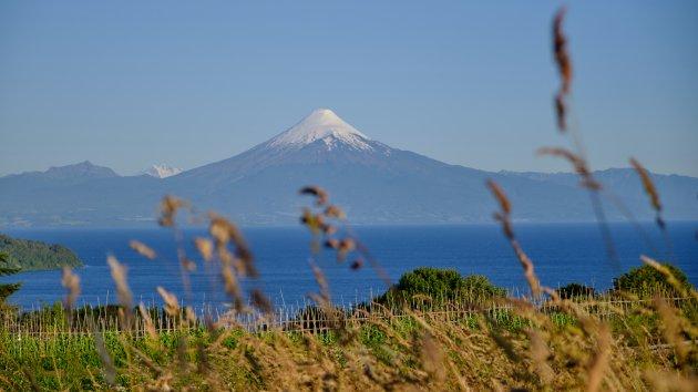Lunchen met uitzicht op de Osorno Vulkaan