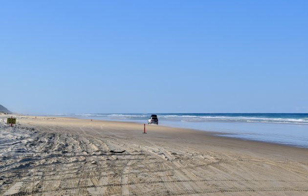 Per 4x4 over Fraser Island