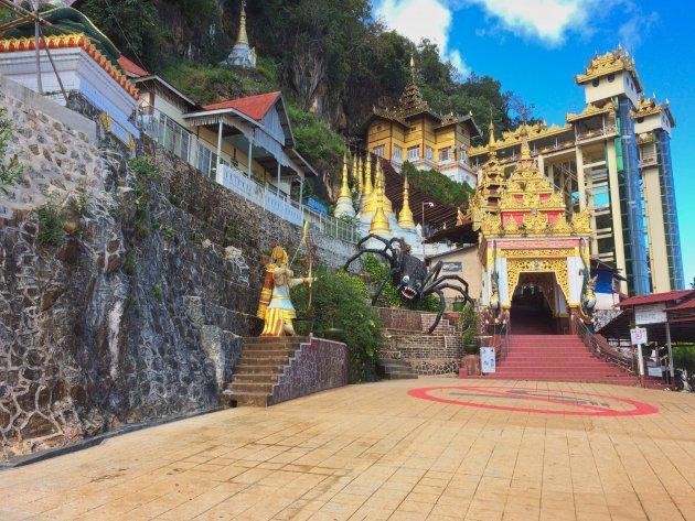 De legende van de Shwe Oo Min grotten.
