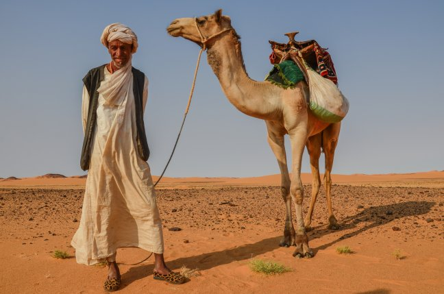 Woestijnnomade
