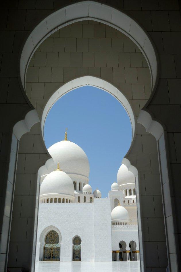 doorkijkje in de grootste moskee