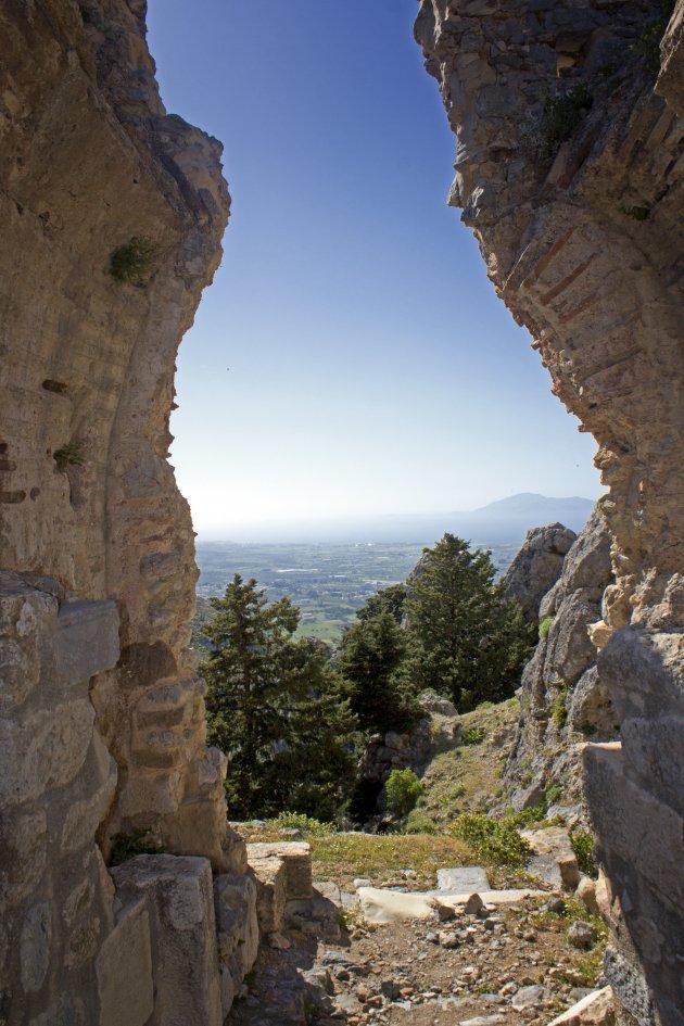 Uitzicht vanaf kasteel Paléo Pili