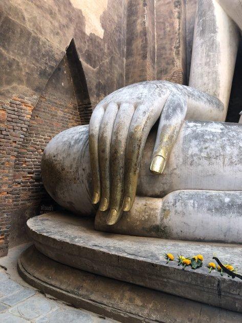 Imposante vingers van Boeddha