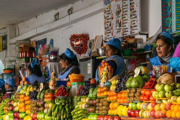 Even naar de markt in Sucre