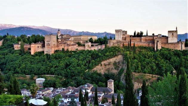 Uitzicht op Alhambra