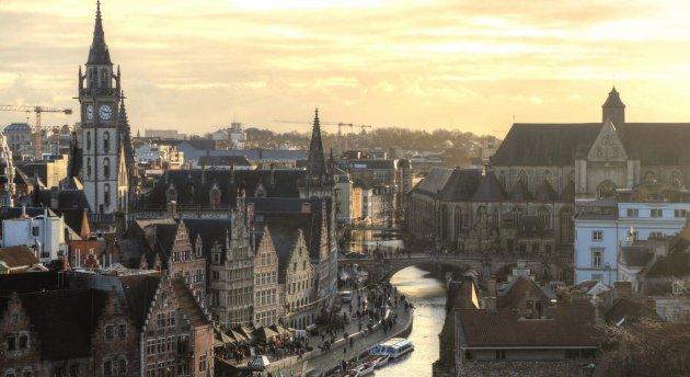 Avond over Gent