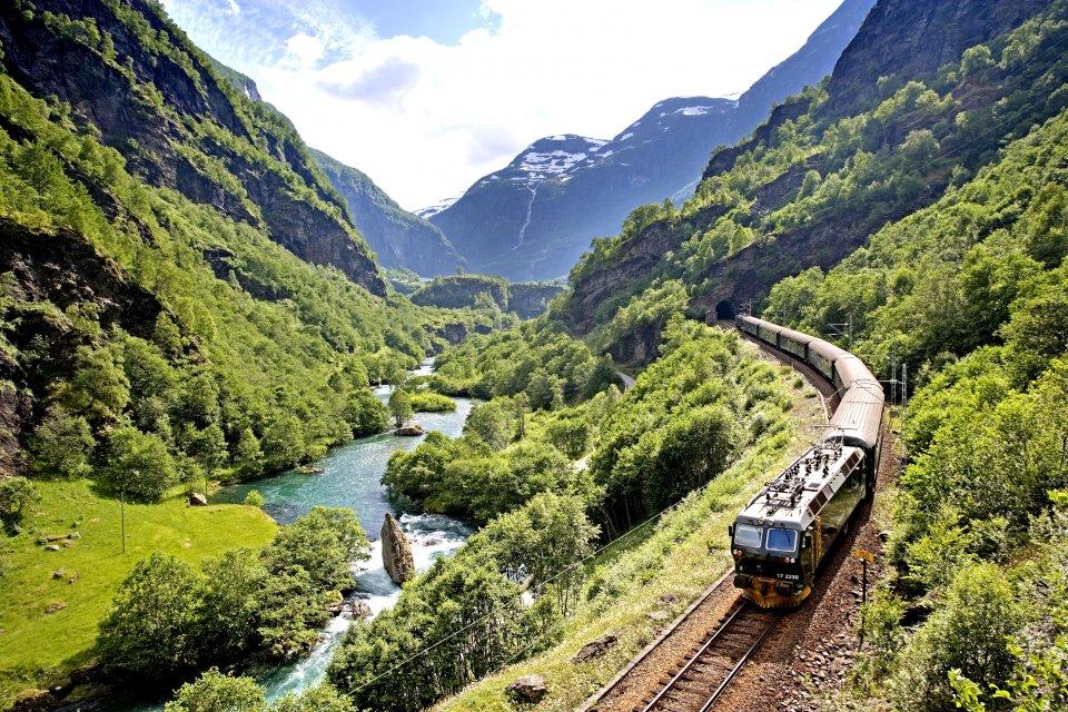 trein bergen noorwegen