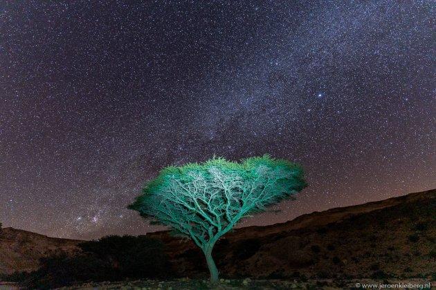 Sterrenhemel boven Oman