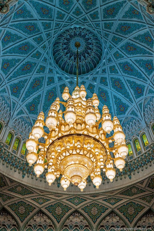 De Sultan Qaboos moskee in Muscat