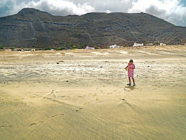 Schelpen zoeken en surfen in Salamansa