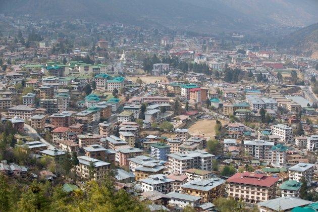 Stadsoverzicht Thimpu