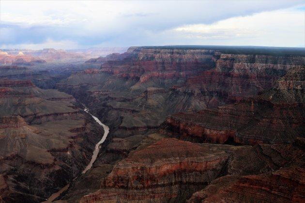boven de Grand Canyon
