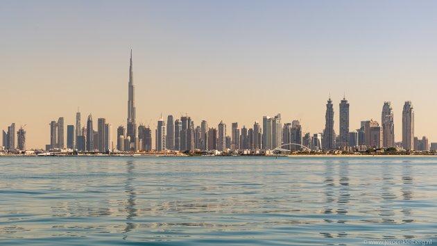 De skyline van Dubai